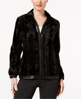 Alfred Dunner Talk of The Town Faux-Fur Jacket