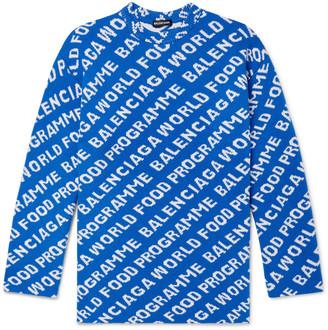 Balenciaga + World Food Programme Oversized Logo-Intarsia Wool-Blend Sweater