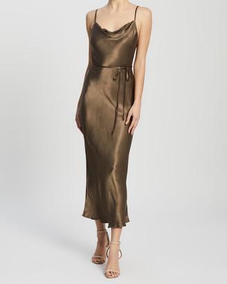 Shona Joy Sophia Bias Cowl Midi Dress