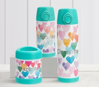 Pottery Barn Kids Mackenzie Rainbow Hearts Hot & Cold Container
