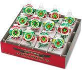 Christopher Radko Shiny Brite Holiday Splendor Reflector Rounds Boxed Ornaments, 12-Pc. Set