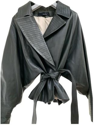 Amanda Wakeley Green Leather Leather Jacket for Women