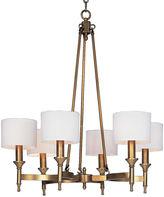 One Kings Lane Braxton 6-Light Chandelier, Aged Brass