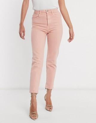 Stradivarius slim mom jean with stretch in pink