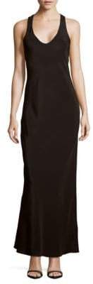 Tibi Solid Sleeveless Silk Gown