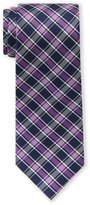 Tommy Hilfiger Purple Stripe Plaid Tie