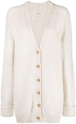 Maison Margiela Textured Finish Knitted Cardigan