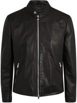 Corneliani Black Leather Jacket
