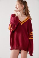 BDG Distressed Hockey Pullover Sweater