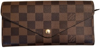 Louis Vuitton Josephine Brown Cloth Wallets