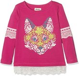 Hatley Girl's Lace Trim Tee T-Shirt,6 Years