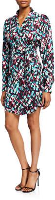 Saloni Mari Printed Short Wrap Dress