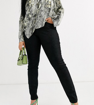 Junarose croc coated jeans