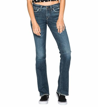 Silver Jeans Co. Women's Suki Curvy Fit Mid Rise Bootcut