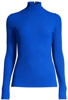 Tory Burch Rib-Knit Turtleneck Sweater