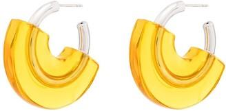Panconesi Half-Covered Hoop Earrings