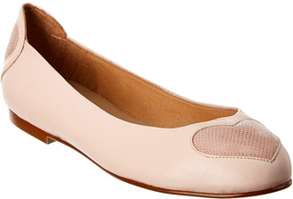 French Sole Suess Leather Flat