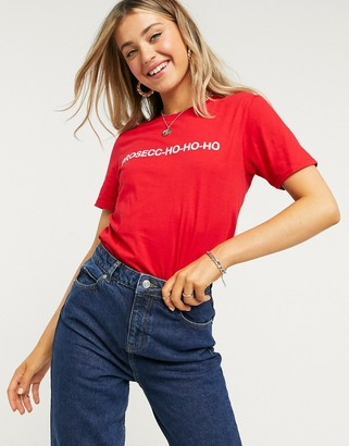 Skinnydip Skinny Dip oversized Christmas T-shirt in red