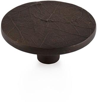 Michael Aram Forest Leaf Round Knob - Oxidized