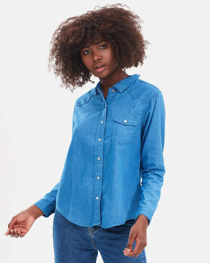 Atmos & Here ICONIC EXCLUSIVE - Debrah Chambray Shirt