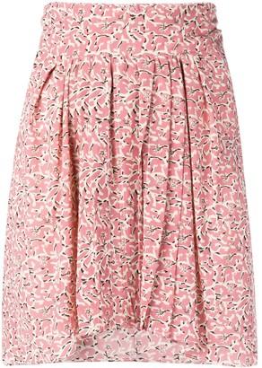 Isabel Marant floral print A-line mini skirt
