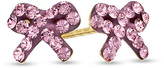 Zales Child's Pink Crystal Bow Stud Earrings in 14K Gold