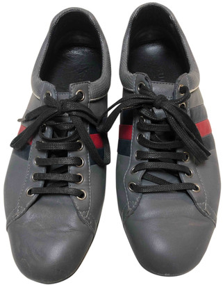 Gucci G74 Grey Leather Trainers