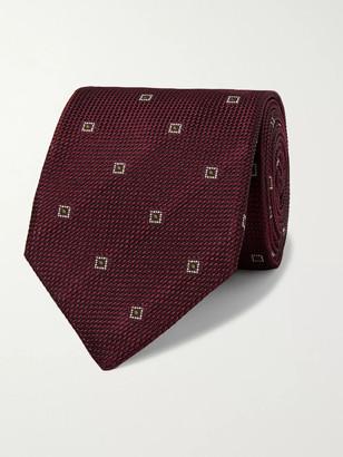 Kingsman + Drake's 8cm Embroidered Silk-Jacquard Tie