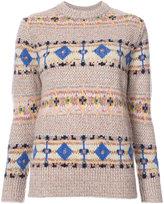 Victoria Beckham fair isle knit jumper - women - Wool/Alpaca/Virgin Wool - 1