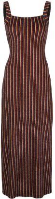 Rosetta Getty Striped Maxi Slip Dress