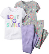 Carter's Smile 4-pc. Pajama Set - Toddler Girls 2t-5t