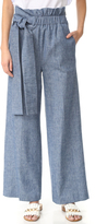 MSGM Chambray Wide Leg Pants
