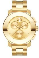 Movado Bold Goldtone Stainless Steel Chronograph Bracelet Watch