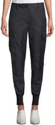 3.1 Phillip Lim Pinstripe Jogger Pants With Cargo Pockets