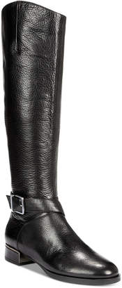 Kenneth Cole New York Women Branden Buckle Riding Boots Women Shoes