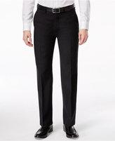 Ryan Seacrest Distinction Black Solid Slim-Fit Pants