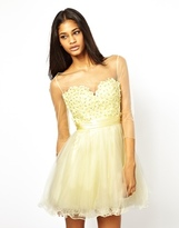 Forever Unique Prom Dress - Pale yellow