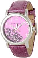 Juicy Couture Women's 1900809 Happy Pink Metallic Leather Strap Watch
