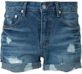 GUILD PRIME destroyed denim shorts - women - Cotton - 34