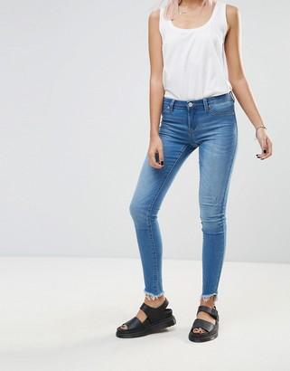 Blank NYC One Life Stand Raw Drop Hem Skinny Jeans