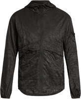 Satisfy Self-stowing nylon windbreaker jacket