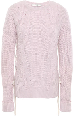 Autumn Cashmere Lace-up Cashmere Sweater