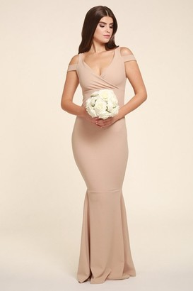 Honor Gold Evie Beige Maxi With Fishtail