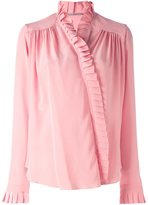 Ermanno Scervino frill detail blouse - women - Silk/Brass/glass - 40