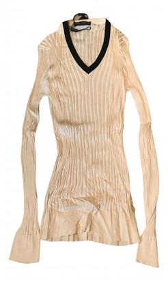 Dolce & Gabbana Ecru Silk Knitwear & Sweatshirts