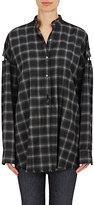 Helmut Lang Women's Cutout-Sleeve Shirt-DARK GREY