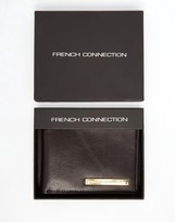 French Connection Leather Wallet With Plaque