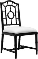The Well Appointed House Bungalow 5 Chloe Faux Bamboo Side Chair in Black