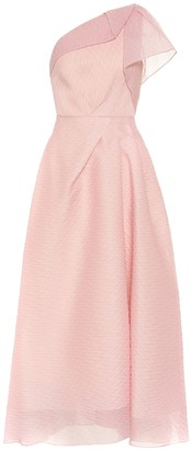 Roland Mouret Ostuni chevron organza dress
