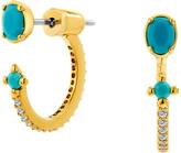 Nadri Drop Back Huggie Earrings